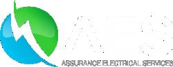 AES logo white text